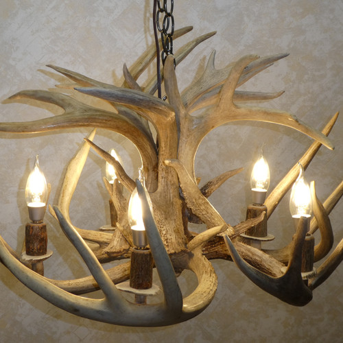 Antler chandeliers on sale griffith in american natural resources 5 light real antler chandelier mozeypictures Gallery