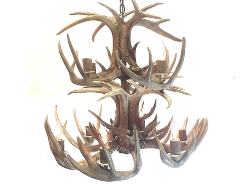 Whitetail Deer Two Tier Antler Chandelier