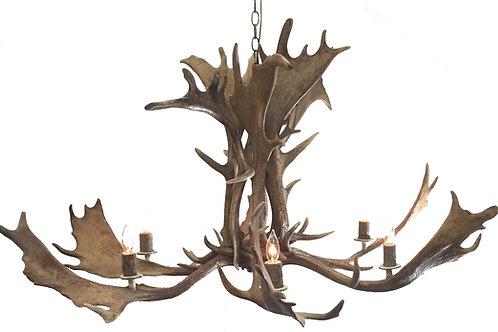 Five Light Fallow Deer Antler Chandelier