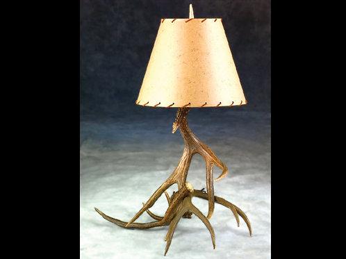 Three Antler Table Lamp Mule Deer