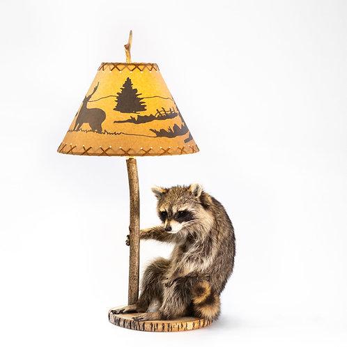 Raccoon w/Lamp & Shade