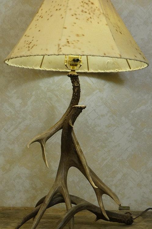3 Antler Mule Deer Table Lamp