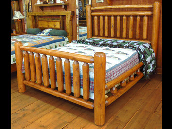 Stained White Cedar Queen Size Bed