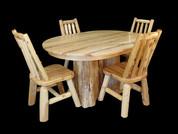 White Cedar Stump Table Set