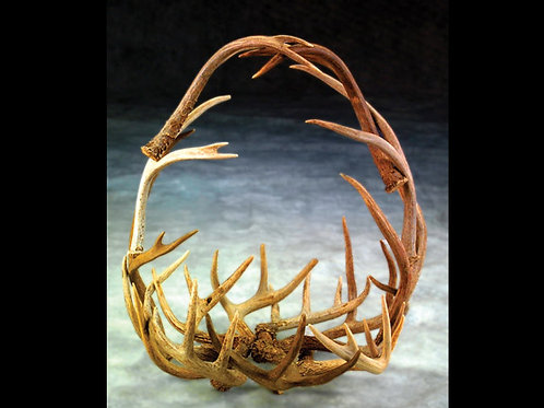 Round Antler Basket