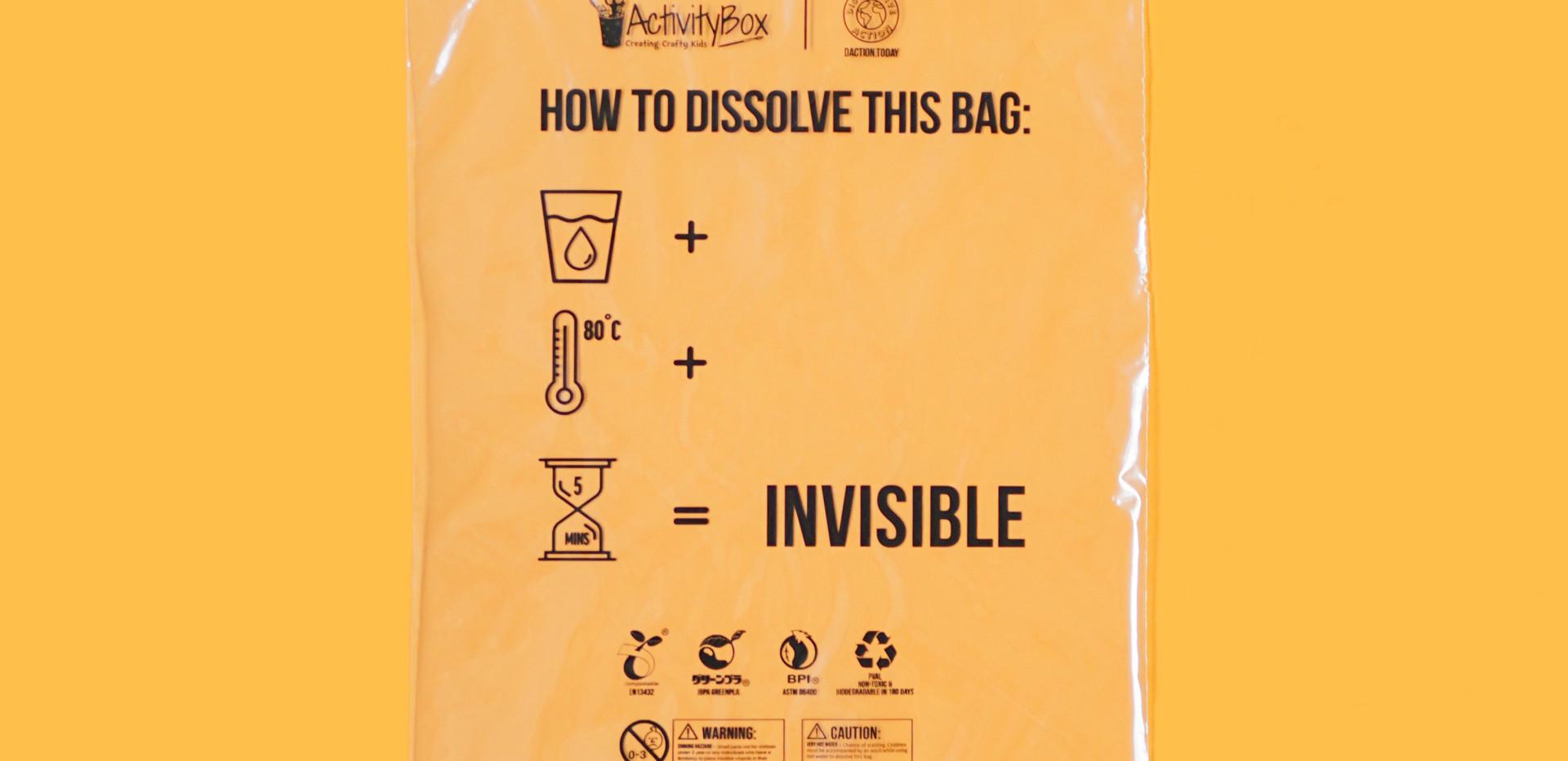 Activity Box #INVISIBLEBAG Product Shot.