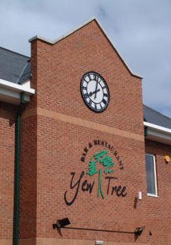 Large exterior skeleton clock