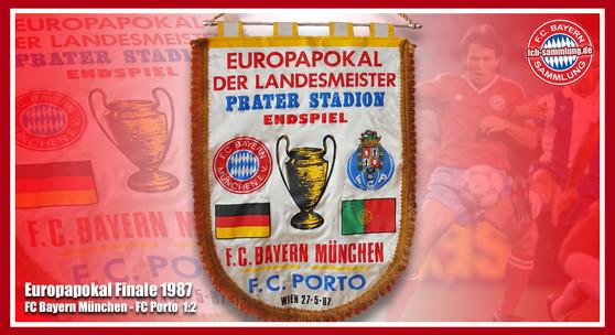 Wimpel Europapokal 1987