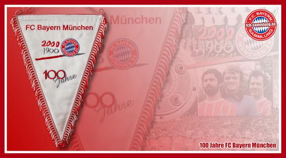 Seidenwimpel 100 Jahre FC Bayern