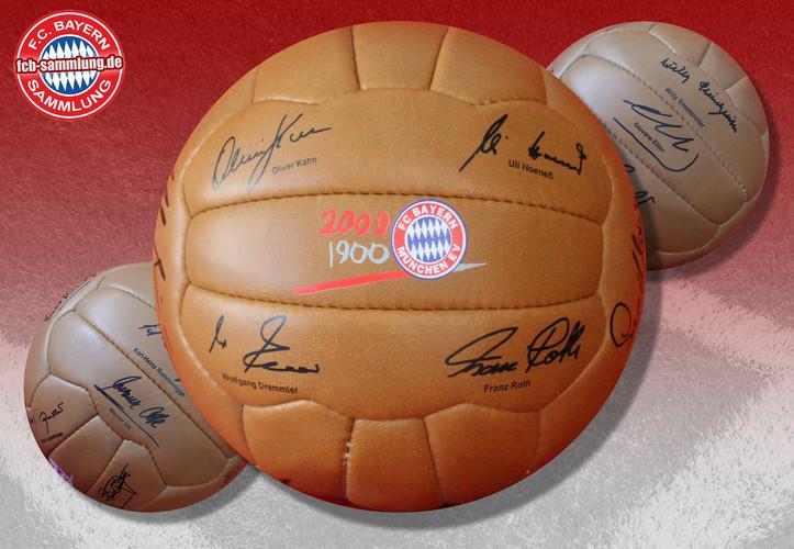 Autogrammball 100 Jahre FC Bayern