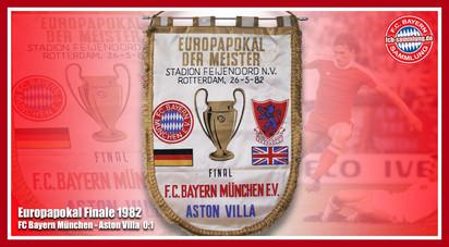 Wimpel Europapokal 1982