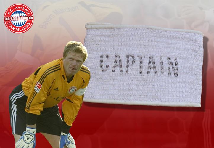 Kapitänsbinde von Oliver Kahn aus der Saison 2004/05