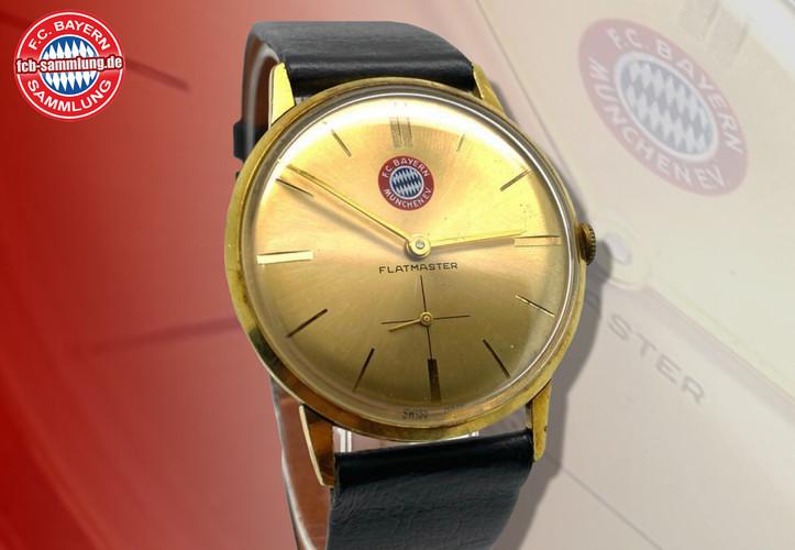 Limitierte Flatmaster Uhr aus den 1960er Jahren mit dem alten Bayernemblem.