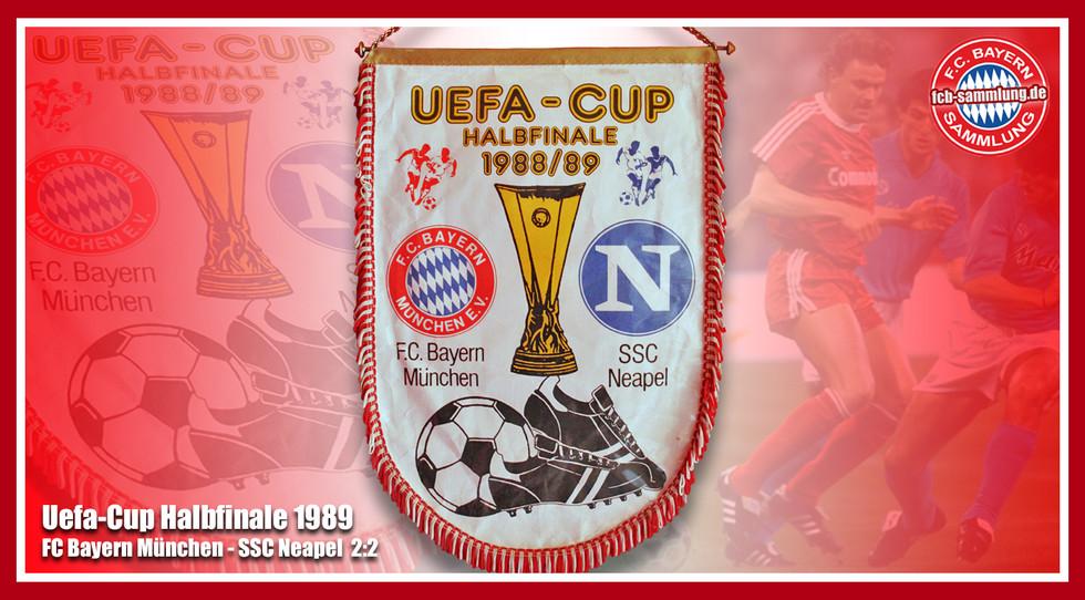 Wimpel Uefa-Cup Halbfinale 1989