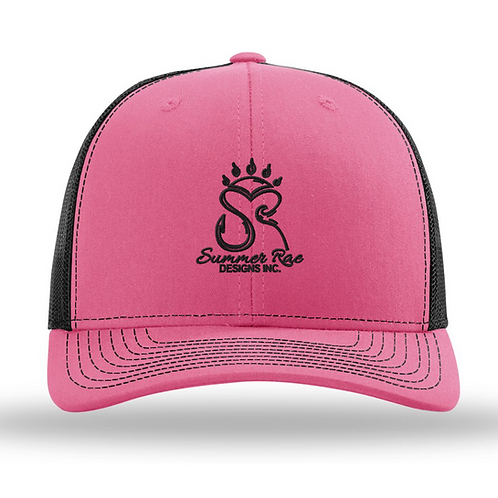 Trucker Hat Pink/Black - Black Logo