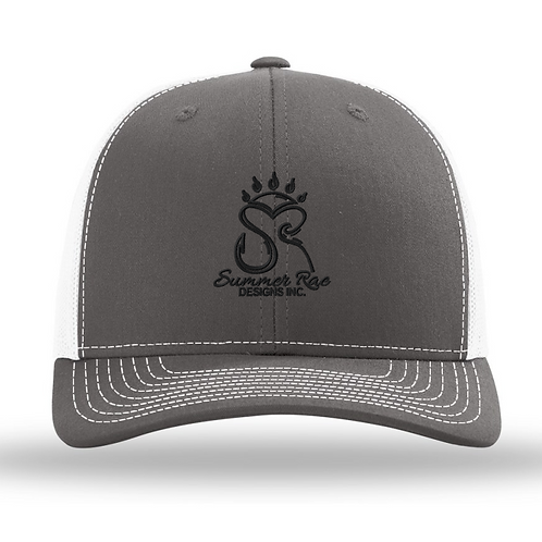 Trucker Hat Charcoal Grey/White Black Logo