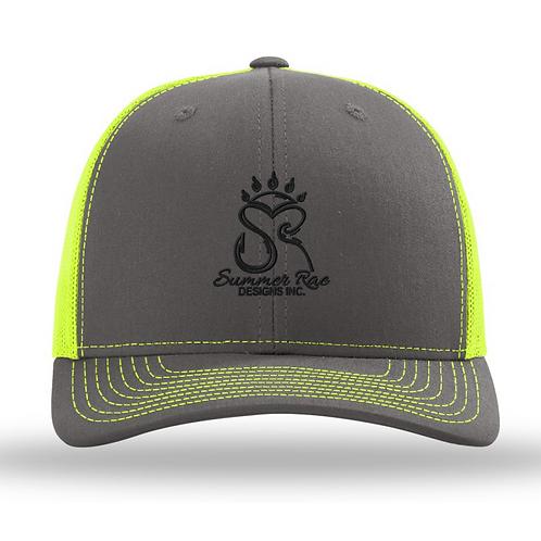 Trucker Hat Charcoal Grey/Neon Yellow Black Logo