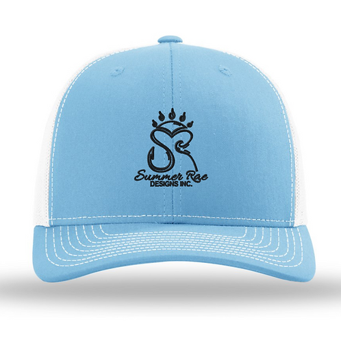 Trucker Hat Carolina Blue/White - Black Logo