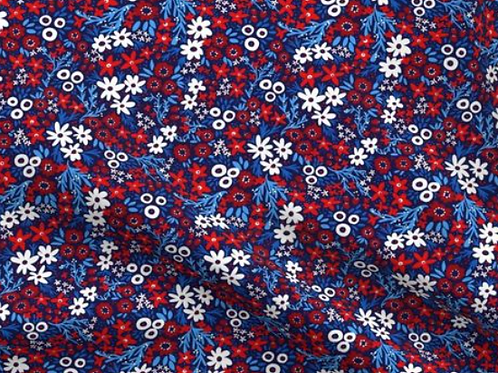 Red White Blue Floral Bottom