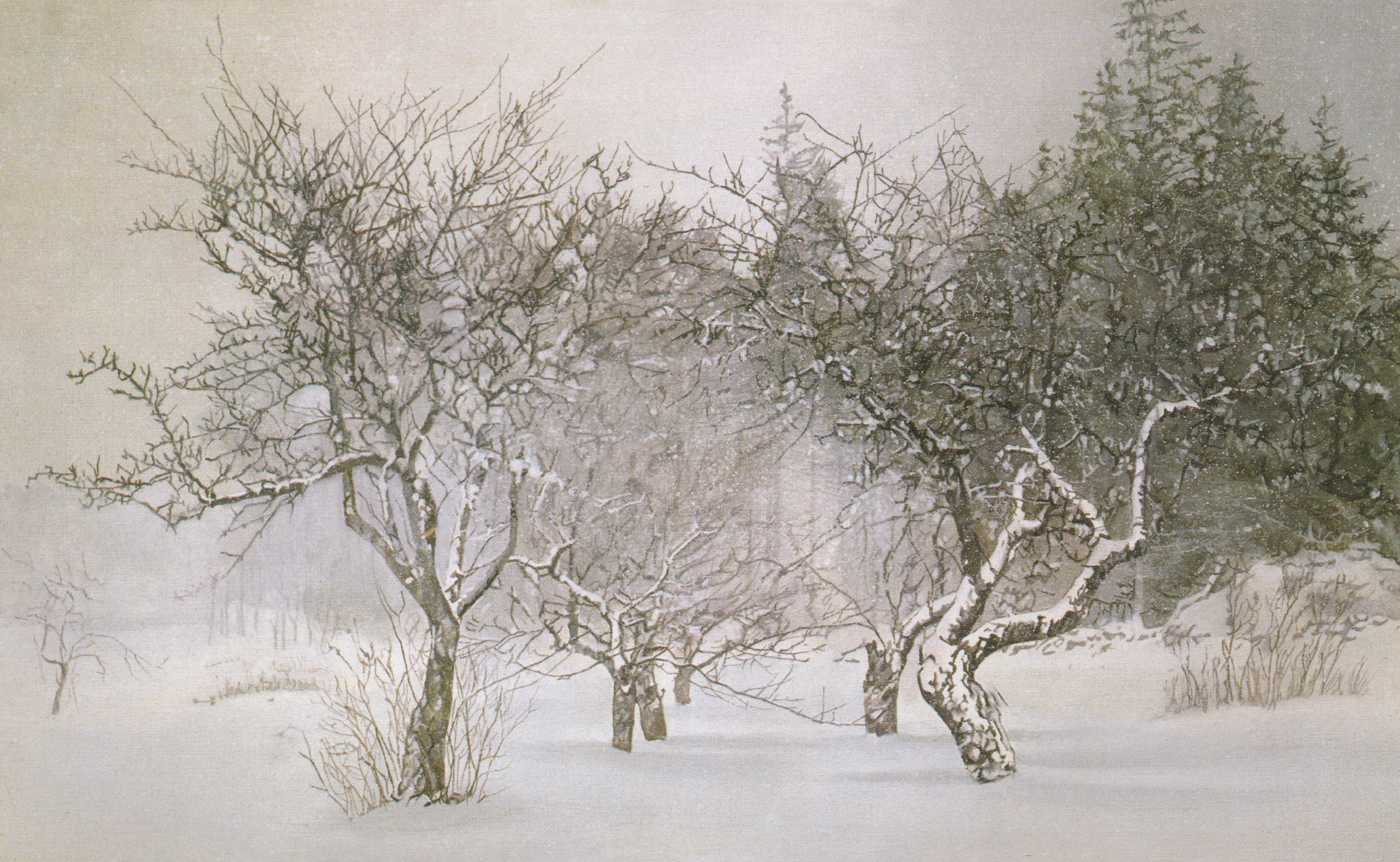 The Orchard in Winter II