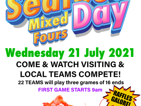 Mixed Fours Seafood Day action kicks off tomorrow!