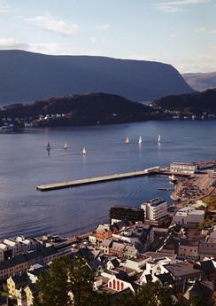 Sail boats in Ålesund