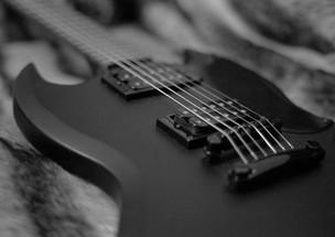 Guitar on fur