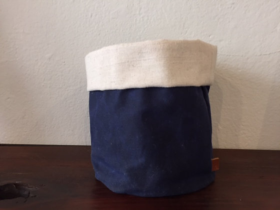 Waxed Canvas Storage Bin