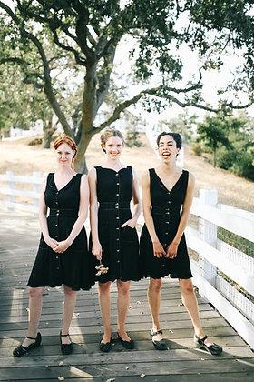 SHEET DRESS IN BLACK
