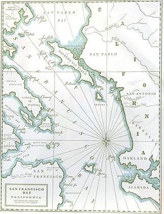 Historic San Francisco Letterpress Map