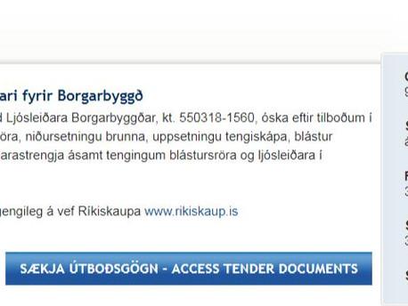 Útboð - verklegar framkvæmdir