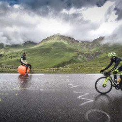 Tourmalet on a Spacehopper