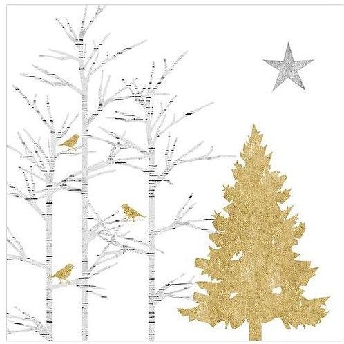 Servetten Mystic tree 33 x 33 cm