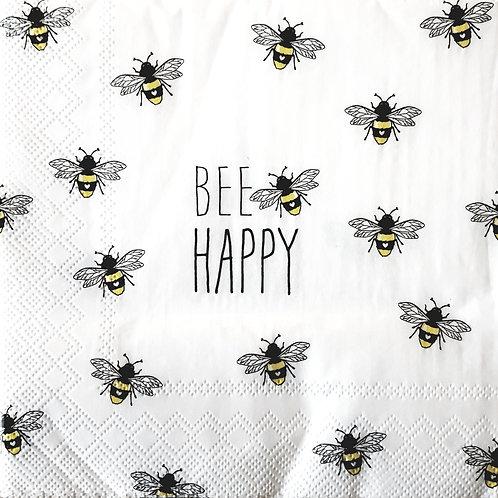 Servetten Bee Happy