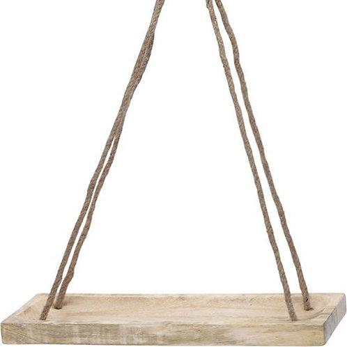 Houten plank aan touw