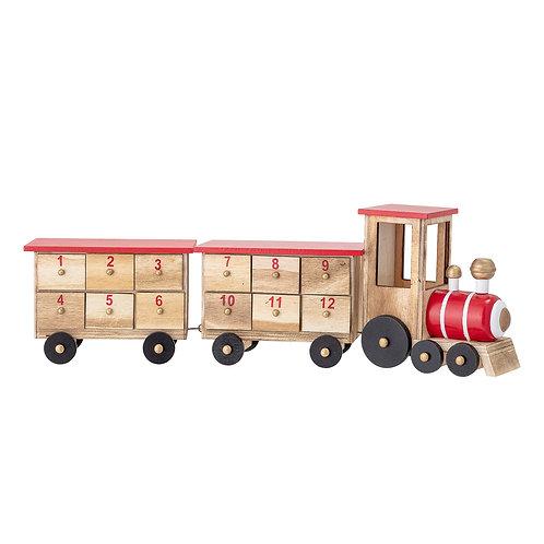 Adventskalender - houten trein