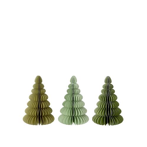 Kerstboom van papier - small - verschillende kleuren