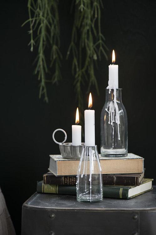 Flesje met kaarsenhouder