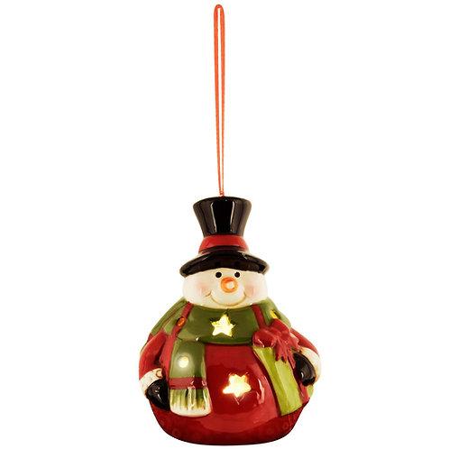 Hanger 'Snowman' bolbuik met led