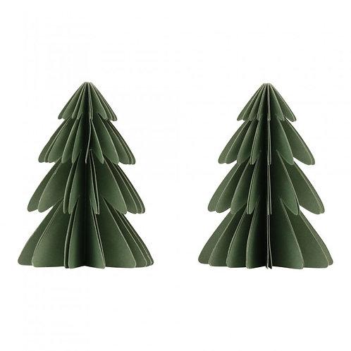 Papieren kerstbomen, set van 2