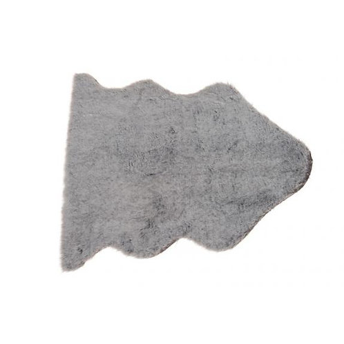 Vachtje (imitatie) grijs