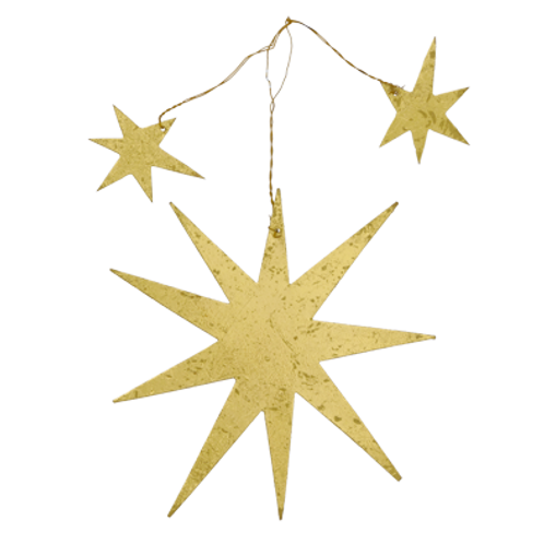 Gouden ster Kali met twee kleine sterretjes