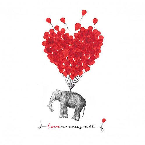 Servetten 'Love carries all' van PPD 33 x 33 cm