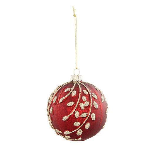 Kerstbal van glas