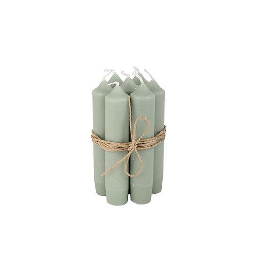 Bundeltje kaarsen - dusty green