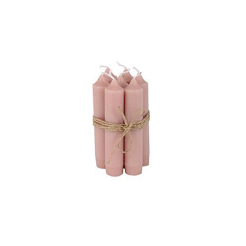 Bundeltje kaarsen - dusty pink