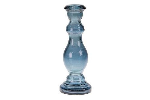 Kandelaar van gerecycled glas 20 cm