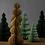 Thumbnail: Kerstboom van papier - small - verschillende kleuren