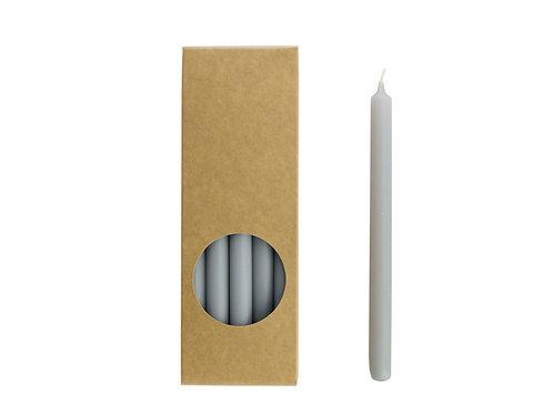 Potloodkaarsjes 17,5 cm 'koel grijs'