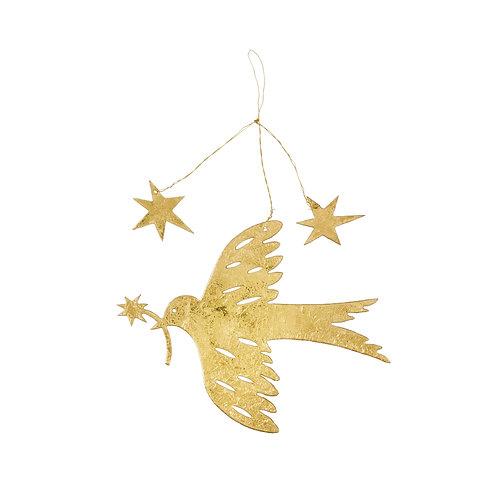 Gouden vogel met sterren